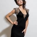 Leda - Black Lace Nightgown