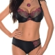 FLORENCE Black and Red Lace Bikini Panties