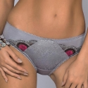 Bella Rosa - Grey Lace Bikini Panties