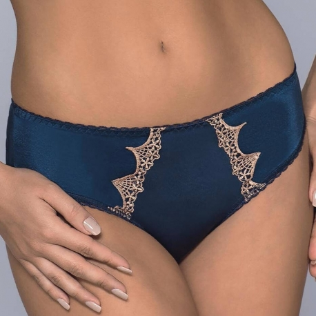 AZZURRO Navy Blue Bikini Panties