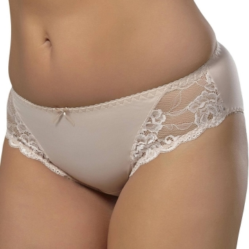 Bikini Panties Fanchone - Beige Lace Bikini Panties: XL, XXL