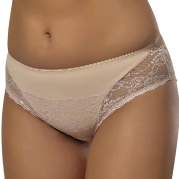 Bikini Panties Fanchone - Light Beige Lace Bikini Panties: L, XL, XXXL