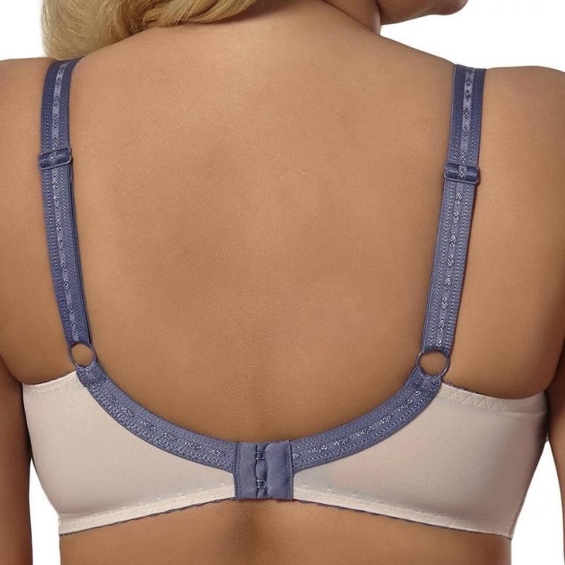 0388da2f43853 SILANA - Beige and Steel Blue Lace Push up Bra
