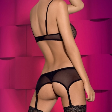 Sheer 3-Piece Lingerie Set - Subtelia