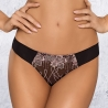 ZOE Seamless Black Sheer Thongs