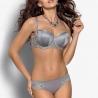 Solange Full Bust Grey Balconette Bra