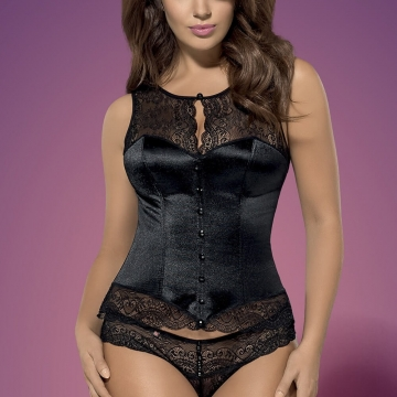 Miamor - Black Lace Corset Set