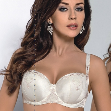 Emilly - Ivory Padded Balconette Bra
