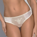 Emilly - Ivory Sheer Lace Cheeky Bikini Panties