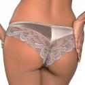 Leila - Light Beige Lace Cheeky Panties