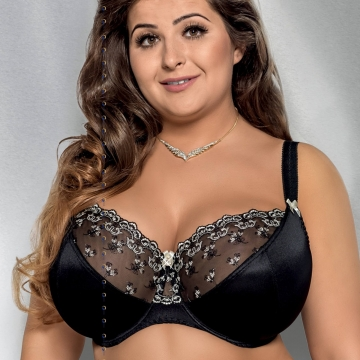 Marlene - Unlined Black Sheer Lace Bra