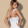 Feelia White Long Sheer Nightgown Set