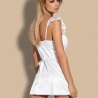 Feelia White Chemise and Thongs Set