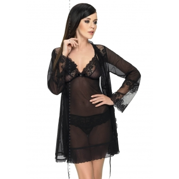 Mistique - Ultra Sheer Black Robe