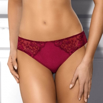 Rania - Red Sheer Lace Bikini Panties