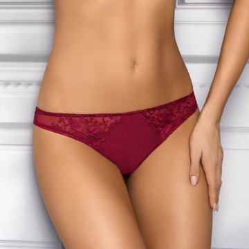 Rania - Red Sheer Lace Thongs