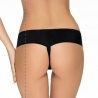 Mistique - Black See Through Lace Thongs