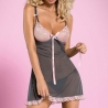 Dovelia - Grey Lace Chemise Set