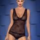 Fiorenta - Black Sheer Top and Shorties