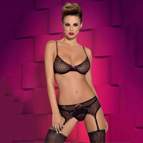 Subtelia - Sheer 3-Piece Lingerie Set