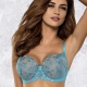 Milla - Turquoise Sheer Bra for Large Sizes