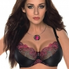 Florence - Black Unlined Sheer Lace Bra