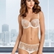 Light Cream Sheer Bra - Lea Balconette