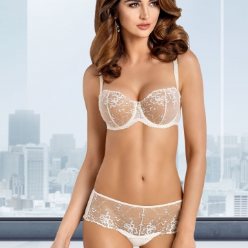 Lea - Light Cream Sheer Bra Balconette
