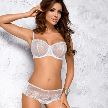 White Sheer Bra - Roma Balconette