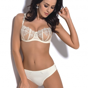 Claire - Light Cream Sheer Bra Balconette: 30G, 32D, 32DD, 32G, 34B, 36B, 36G