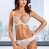 Light Cream Sheer Bra Plus Sizes - Lea