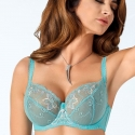 Molly Turquoise Sheer Bra  Plus Sizes
