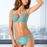 Turquoise Sheer Bra  Plus Sizes - Molly