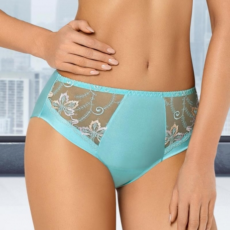 Turquoise High Waist Brief - Molly