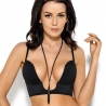 Deep U Plunge Push Up Bra - Black G025