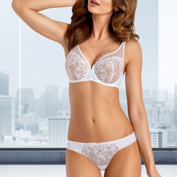 White Sheer Bra - Celeste Balconette