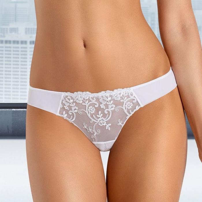 White Sheer Panties - Celeste Thongs