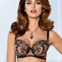 Nori - Black Ultra Sheer Bra Plus Sizes