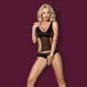 Crotchless Black Sheer Teddy -Style 823