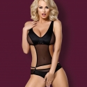 Crotchless Black Sheer Teddy - Style 823