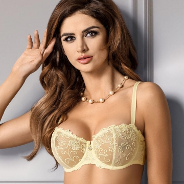 Mia - Yellow Sheer Bra Balconette