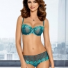 Leticia - Green See Through Balconette Bra