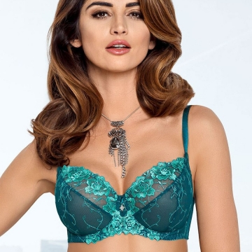 Bras  Leticia - Green See Through Bra Plus Sizes