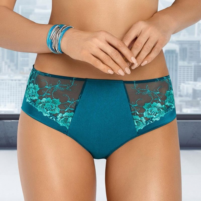 Leticia - Green Sheer High Waist Brief