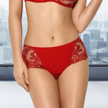 Nori - Red Sheer Hipster Panties