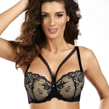 Bras  Black Diamond - Black Lace Push up Bra