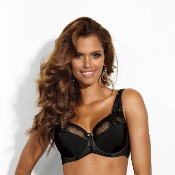 Unlined Bras Cat Eye - Black Sheer Bra Plus Sizes
