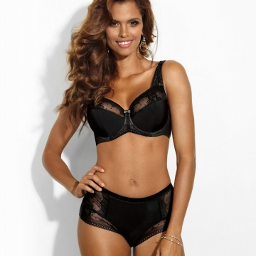 Cat Eye - Black Unlined Bra Plus Sizes