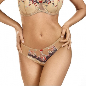 Nuts & Caramel - Light Beige Sheer Thongs