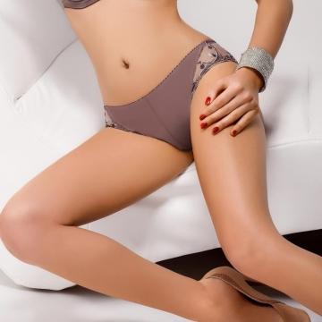 Fleeting Dream - Beige Sheer Thongs